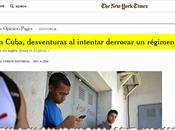 York Times: Acciones contra Cuba, contraproducentes califica disidencia como charlatanes ladrones