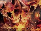 """Nuevo póster hobbit: batalla cinco ejercitos"""" smaug como protagonista"""