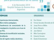 Conclusiones Primera jornada universitaria Tecnologia Educacion, Hospital Italiano Buenos Aires