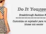 Customiza sujetador para llevar prendas escote espalda