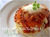 Espaguetis Boloñesa, way.