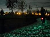 Gogh-Roosegaarde Bicycle Path carril bici fluorescente