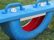 Reciclar neumático convertirlo balancín