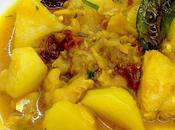 Patatas guisadas migas bacalao tomates secos