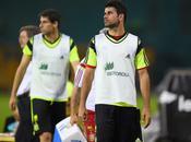 Primer entrenamiento España Brasil.