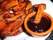 Bastoncitos fritos especiados boniato