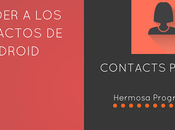 Acceder Contactos Android Contacts Provider