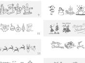 Tipos letras navideñas para hacer cartelitos etiquetas