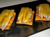 Mini cocas boquerones gelatina naranja limón