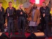 Bruce Springsteen Chris Martin sustituyen Bono como cantantes
