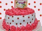 Tarta fresa decorada papel fondant