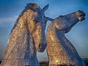 Esculturas gigantes cabezas caballos Escocia