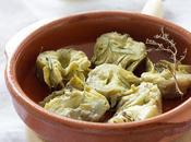 Marinated artichokes with spices Alcachofas marinadas especias