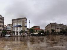 Pontevedra bañada lluvia