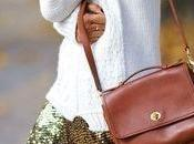 Street style inspiration; sequins+knit