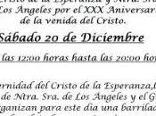 Barrilada-Chocolatada para recaudar fondos aniversario llegada Cristo Esperanza Montequinto