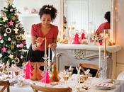 Deco Navidad: mesa Nochebuena dorado rosa