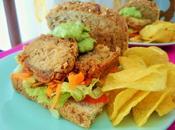 Sandwich pollo vegano