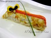 Canelones beicon atún