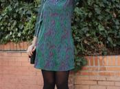 Paisley silk dress.