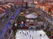 FOTOGRAFÍAlcalá: Navidad Plaza Cervantes Alcalá Henares. Vista desde mirador turístico Torre Santa María.