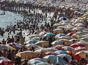 Janeiro abarrotada turistas