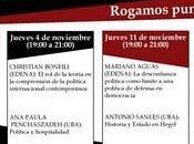 Ciclo Conferencias Teoría Política Universidad Buenos Aires EDENA octubre; noviembre