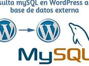 Consulta mySQL WordPress base datos externa