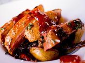 Pato mermelada higos patatas chalotas hierbas tomillo romero