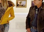 Antonio Banderas novia Nicole Kimpel visitan Museo Thyssen