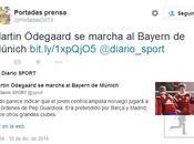 diario Sport primicia fichaje Ödegaard R.Madrid