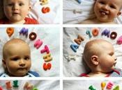 Ideas para fotografiar bebé mes...