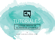 Tutorial: Créditos footer blog