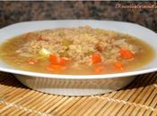 Sopa verduras soja texturizada