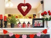 Decoración romántica corazones rosas para febrero