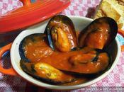 Mejillones vapor salsa tomate picante