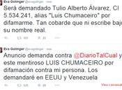 Golinger demandará difamación diario Cual Luis Chumaceiro