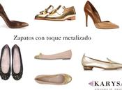 Zapatos toque metalizado