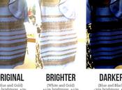 """Explicación científica """"vestido mágico"""" como combinaciones colores"""
