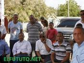 Tamayo, realizan acto inicio drenaje, asfaltado calles carretera.