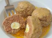 Huevos escoceses fusión Egipto salsa almendras