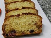 Plum cake arándanos, frutas pasas gluten
