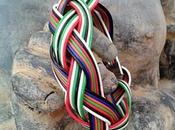 Pulsera trenzada cables multicolores reciclados
