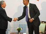 Raúl Castro Obama reunieron Panamá video]