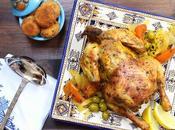 Pollo marroquí especias croquetas patatas
