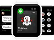 Apple Watch nueva aplicación para conectar Line.