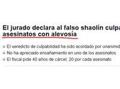 'Caso shaolín': homicidio alevosía asesinato