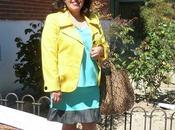 Look falda verde mint