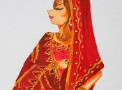 Novias ilustradas: novia India