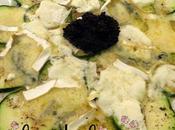 Aperitivo entrante calabacín queso hueva lumpo Clara Belen Gómez